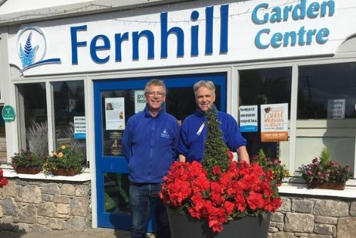 Austin and Eoin Reid, the faces of the family run Fernhill Garden Centre